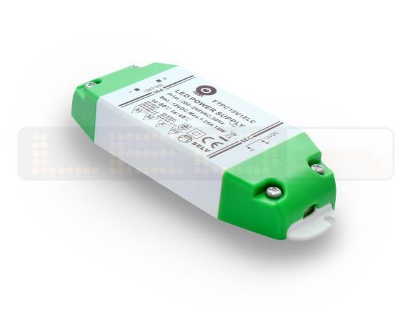 Inbouw LED trafo 15 watt 12VDC 1,25A IP20