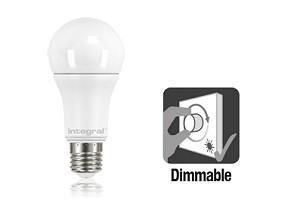 Integral E27 LED lamp 11 watt extra warm wit 2700K dimbaar frosted