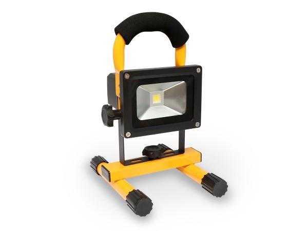 LED bouwlamp op accu 10 watt 3000K