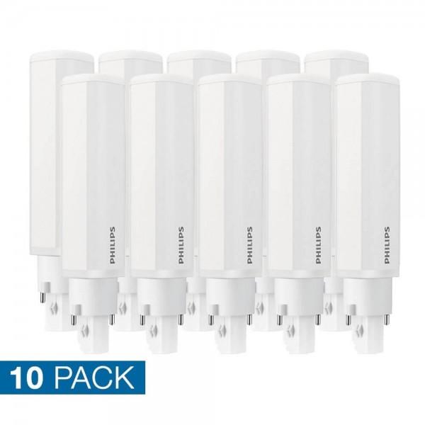 10x Philips PLC LED 8,5 watt neutraal wit 2 pins 840 G24D-3