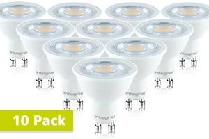 10x Integral GU10 LED spot 7 watt extra warm wit 2700K dimbaar