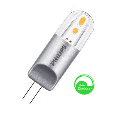 Philips G4 LED 2 watt extra warm wit dimbaar