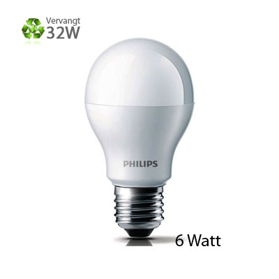 Philips LED-lamp E27 Grote Fitting 6W