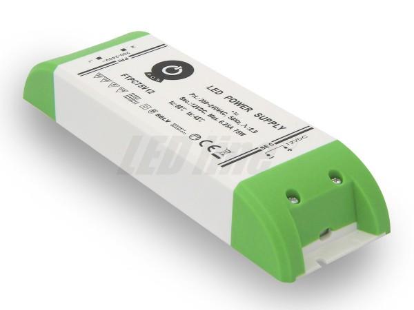 Inbouw LED trafo 75 watt 12VDC 6,25A IP20