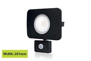 LED schijnwerper 50W 4000K en sensor IP64 zwart